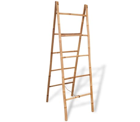 "vidaXL Double Towel Ladder with 5 Rungs Bamboo 19.7""x63""[1/5]"