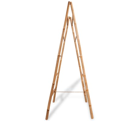 "vidaXL Double Towel Ladder with 5 Rungs Bamboo 19.7""x63""[3/5]"