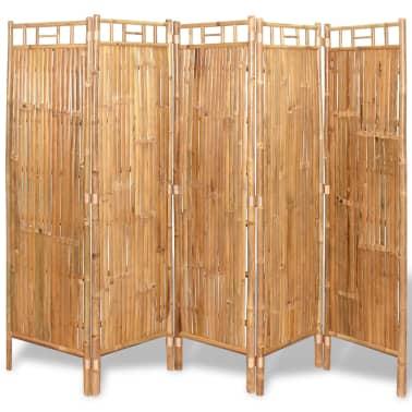 vidaXL Tilanjakaja 5 paneelia bambu 200x160 cm[1/6]