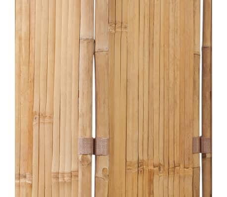vidaXL Tilanjakaja 5 paneelia bambu 200x160 cm[5/6]