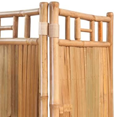 vidaXL Tilanjakaja 5 paneelia bambu 200x160 cm[3/6]