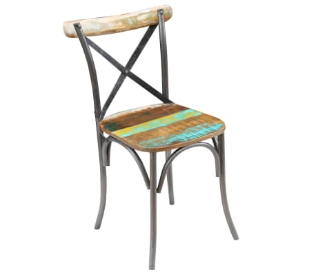 "vidaXL Dining Chairs 2 pcs Solid Reclaimed Wood 20""x20.5""x33""[4/9]"