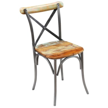 "vidaXL Dining Chairs 2 pcs Solid Reclaimed Wood 20""x20.5""x33""[5/9]"