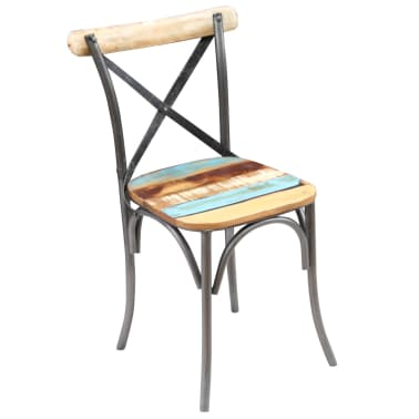 "vidaXL Dining Chairs 2 pcs Solid Reclaimed Wood 20""x20.5""x33""[6/9]"