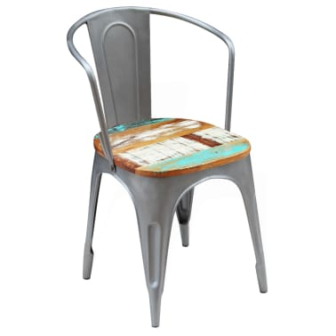 vidaXL Dining Chairs 2 pcs Solid Reclaimed Wood[5/9]