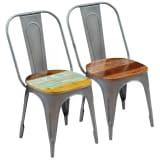 vidaXL Spisestoler 2 stk gjenvunnet heltre 47x52x89 cm