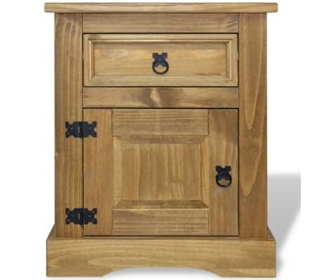 "vidaXL Bedside Cabinet Mexican Pine Corona Range 20.9""x15.4""x26.4""[2/4]"