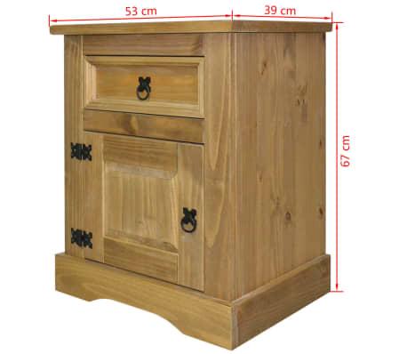 "vidaXL Bedside Cabinet Mexican Pine Corona Range 20.9""x15.4""x26.4""[4/4]"