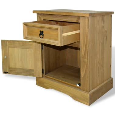 "vidaXL Bedside Cabinet Mexican Pine Corona Range 20.9""x15.4""x26.4""[3/4]"