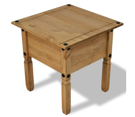 vidaXL Table d'appoint Pin mexicain Gamme Corona 53,5 x 53,5 x 55 cm[3/4]