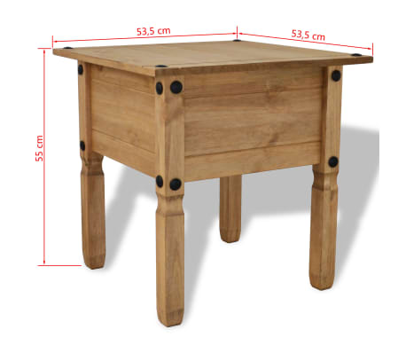 vidaXL Table d'appoint Pin mexicain Gamme Corona 53,5 x 53,5 x 55 cm[4/4]