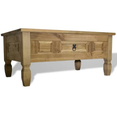 "vidaXL Coffee Table Mexican Pine Corona Range 39.4""x23.6""x17.7""[1/6]"