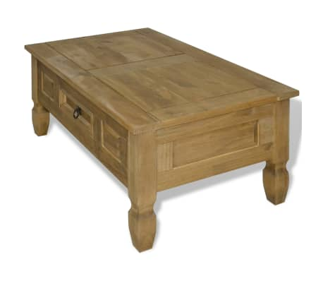 "vidaXL Coffee Table Mexican Pine Corona Range 39.4""x23.6""x17.7""[3/6]"