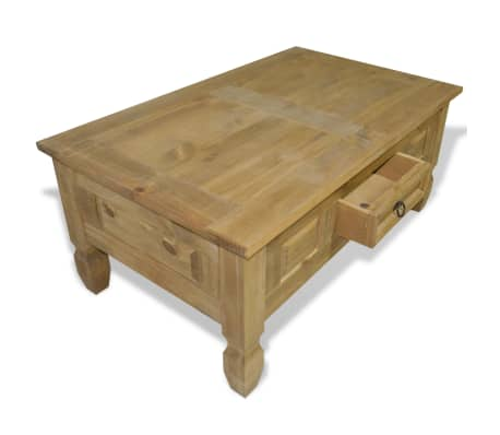 "vidaXL Coffee Table Mexican Pine Corona Range 39.4""x23.6""x17.7""[5/6]"