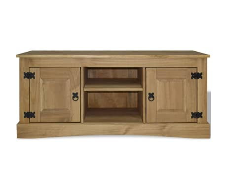 vidaxl tv cabinet mexican pine corona range 120x40x52 cm. Black Bedroom Furniture Sets. Home Design Ideas