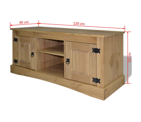 vidaxl tv schrank im mexiko stil kiefer massiv corona 120x40x52 cm g nstig kaufen. Black Bedroom Furniture Sets. Home Design Ideas