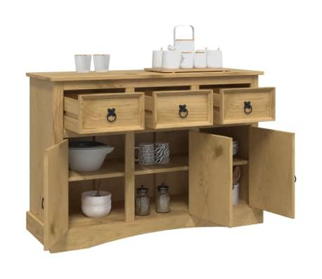 vidaXL Aparador de madera de pino mexicano gama Corona 132x43x78 cm[3/8]