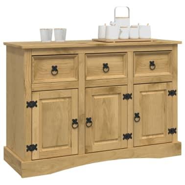 vidaXL Aparador de madera de pino mexicano gama Corona 132x43x78 cm[2/8]
