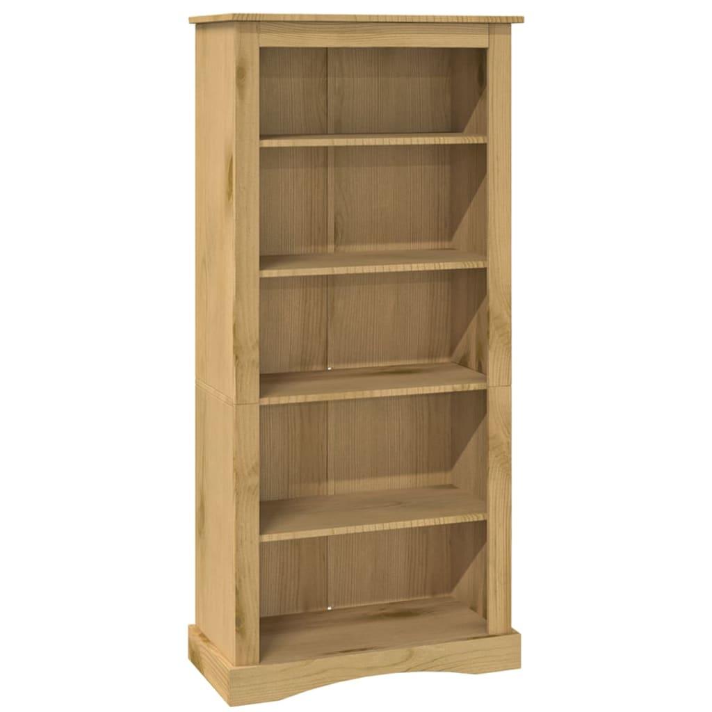 vidaXL Knihovna s 5 policemi mexická borovice Corona 81x29x170 cm