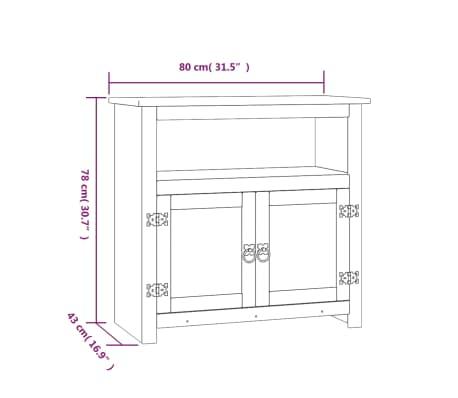 vidaXL Tv-meubel Mexicaans grenenhout Corona-stijl 80x43x78 cm[7/7]
