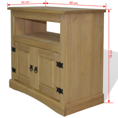 vidaxl tv cabinet mexican pine corona range 80x43x78 cm. Black Bedroom Furniture Sets. Home Design Ideas