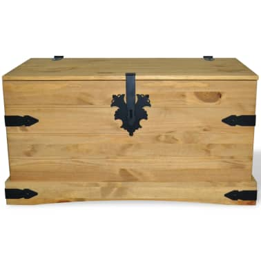 "vidaXL Storage Chest Mexican Pine Corona Range 35.8""x19.5""x18.5""[3/4]"