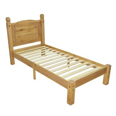 "vidaXL Bed Frame Mexican Pine Corona Range 35.4""x78.7""[2/6]"