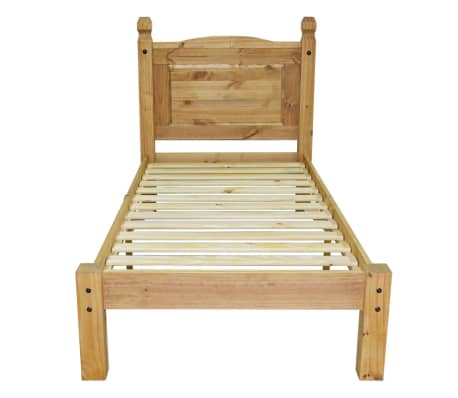 "vidaXL Bed Frame Mexican Pine Corona Range 35.4""x78.7""[3/6]"