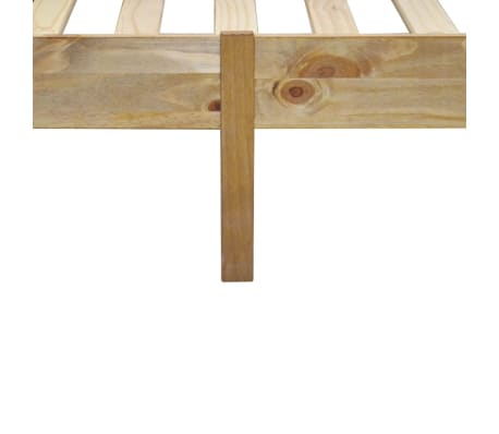 "vidaXL Bed Frame Mexican Pine Corona Range 35.4""x78.7""[5/6]"