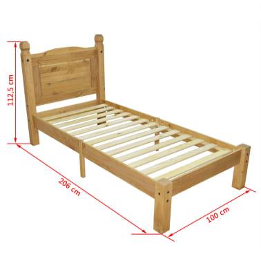 "vidaXL Bed Frame Mexican Pine Corona Range 35.4""x78.7""[6/6]"