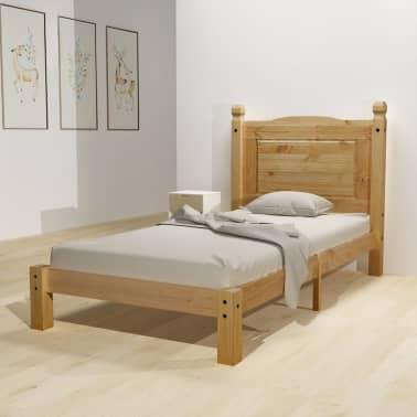 "vidaXL Bed Frame Mexican Pine Corona Range 35.4""x78.7""[1/6]"