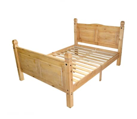 "vidaXL Bed Frame Mexican Pine Corona Range 63""x78.7""[2/6]"