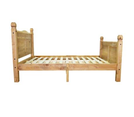 "vidaXL Bed Frame Mexican Pine Corona Range 63""x78.7""[4/6]"