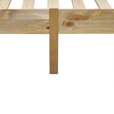 "vidaXL Bed Frame Mexican Pine Corona Range 63""x78.7""[5/6]"