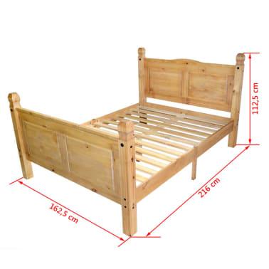 "vidaXL Bed Frame Mexican Pine Corona Range 63""x78.7""[6/6]"
