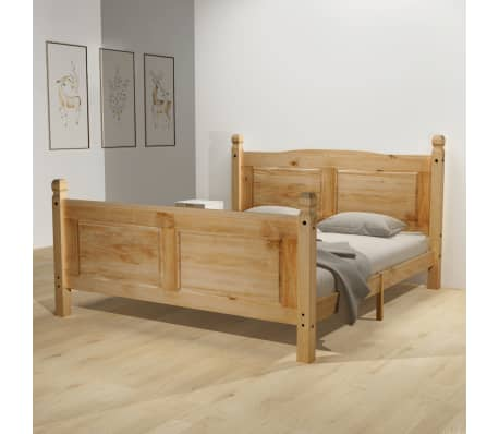 acheter vidaxl cadre de lit pin mexicain corona 160 x 200 cm pas cher. Black Bedroom Furniture Sets. Home Design Ideas