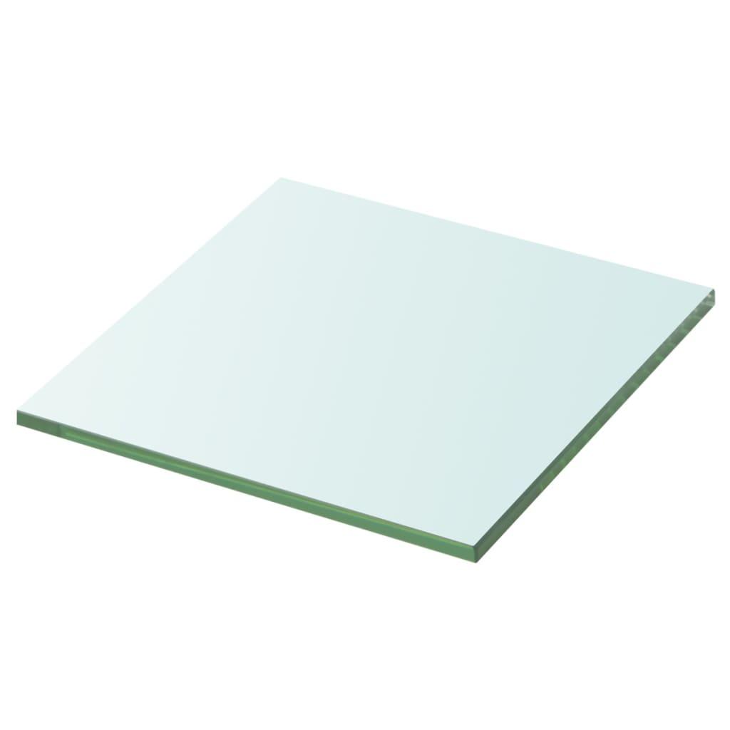vidaXL Policová deska sklo čiré 20x20 cm