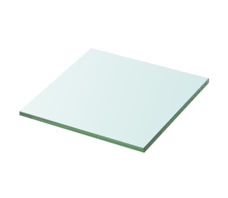 vidaXL Wandschap transparant 20x20 cm glas