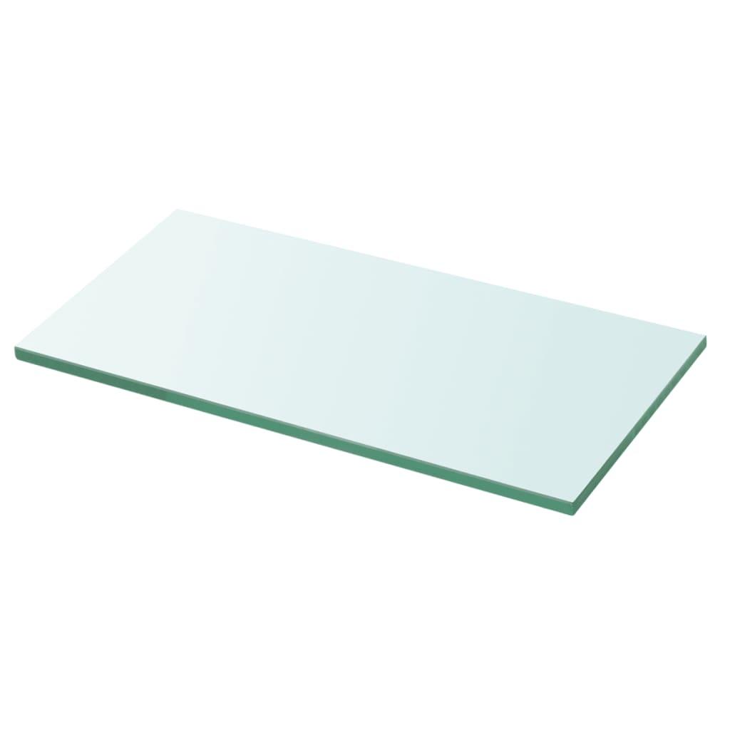 vidaXL Policová deska sklo čiré 30x12 cm