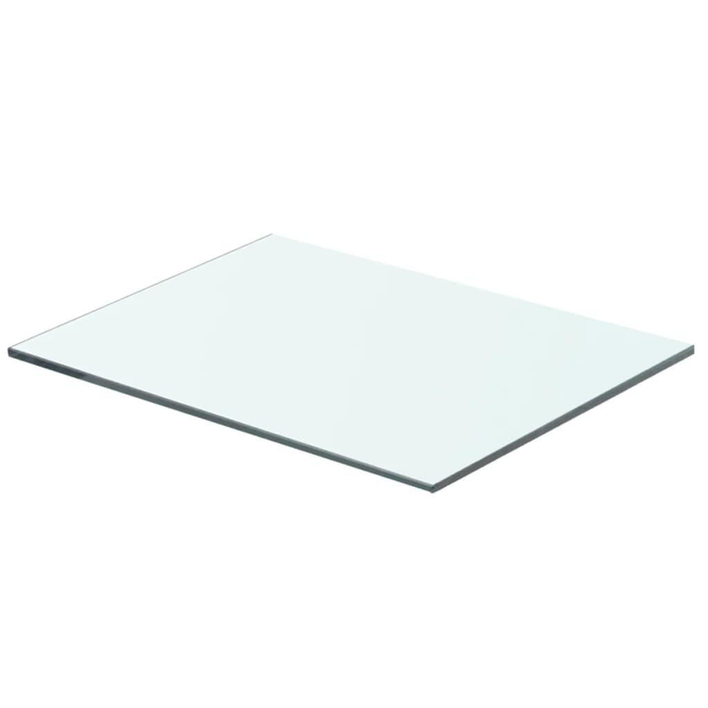 vidaXL Policová deska sklo čiré 40x25 cm