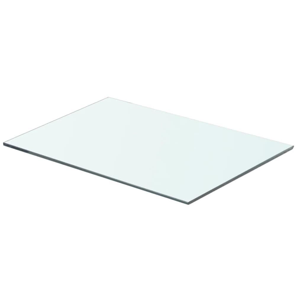 vidaXL Policová deska sklo čiré 50x30 cm