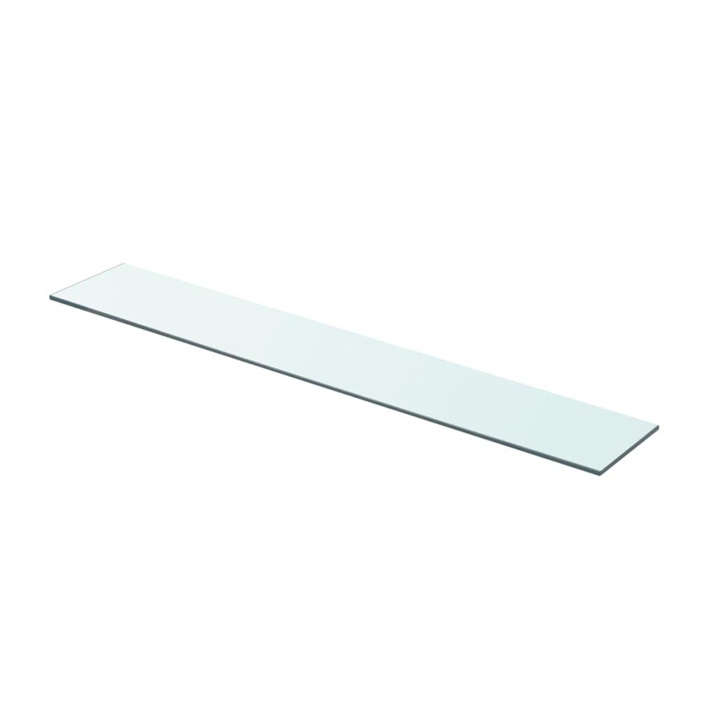 vidaXL Policová deska sklo čiré 80x12 cm