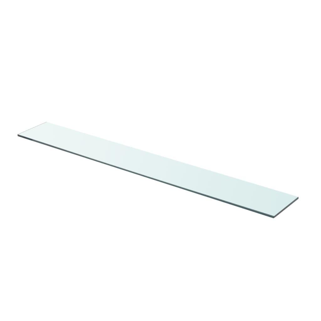 vidaXL Policová deska sklo čiré 90x12 cm