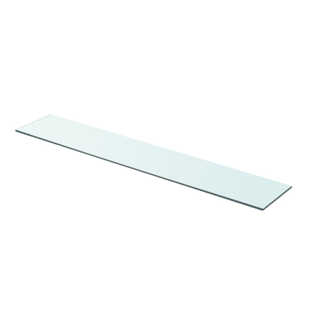 vidaXL Policová deska sklo čiré 90x15 cm