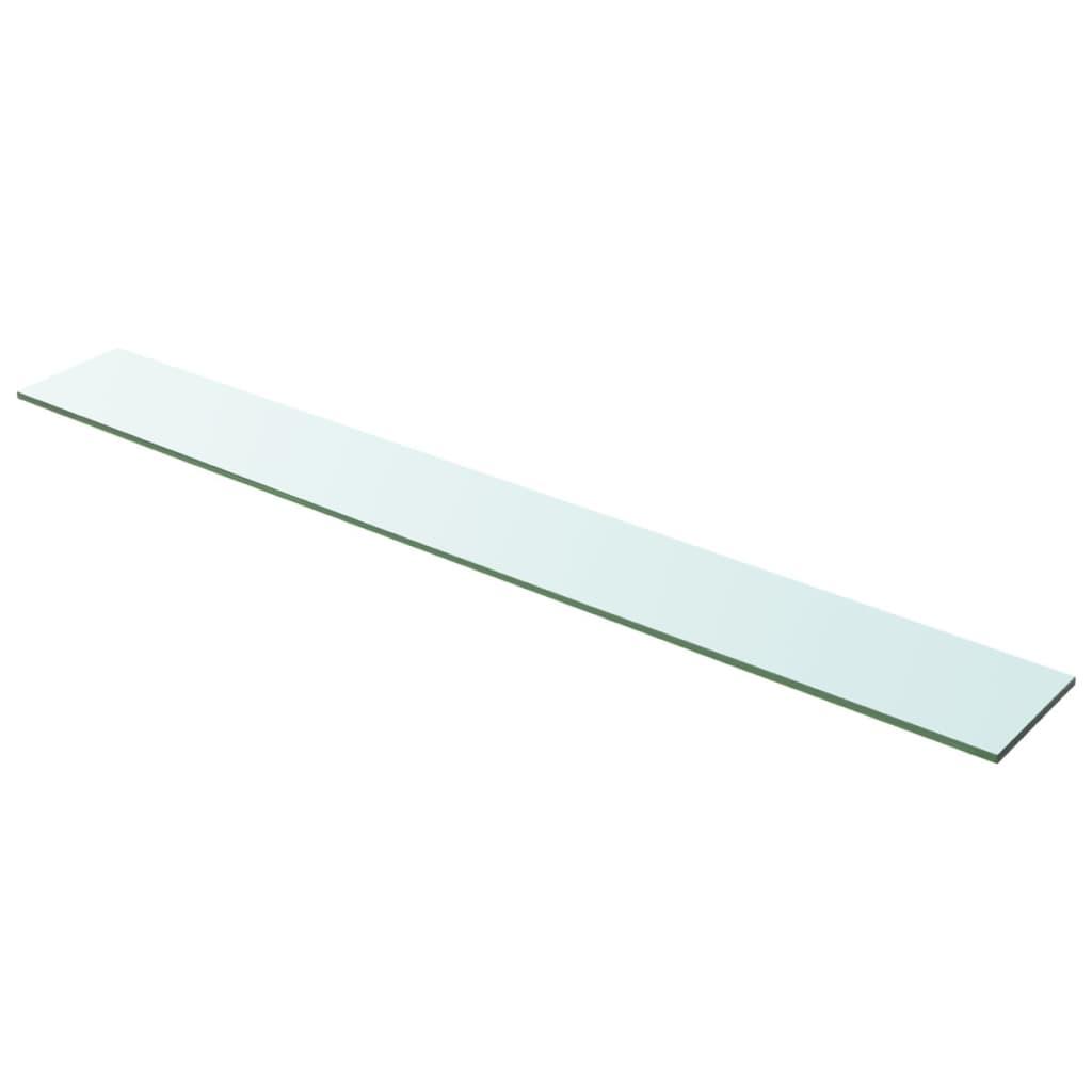 vidaXL Policová deska sklo čiré 100x12 cm