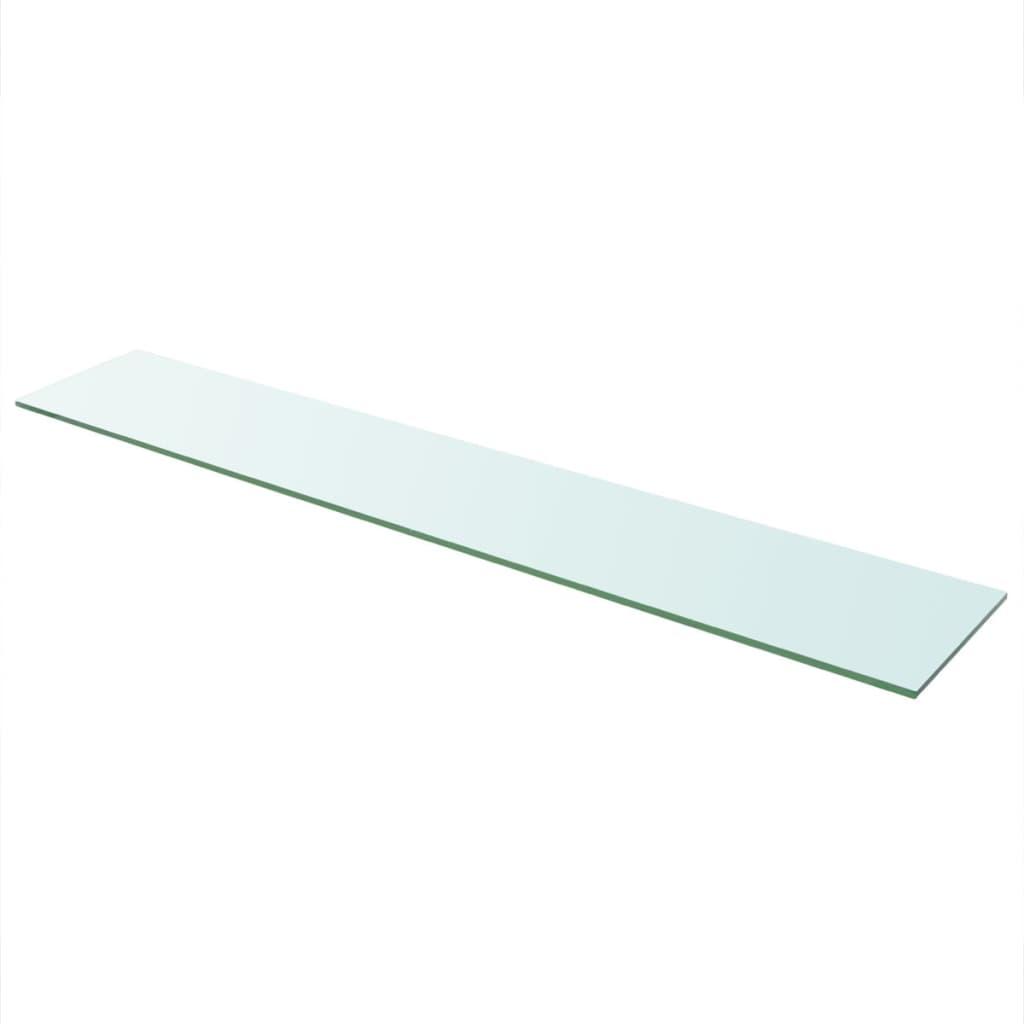 vidaXL Raft din sticlă transparentă, 110 x 20 cm poza vidaxl.ro