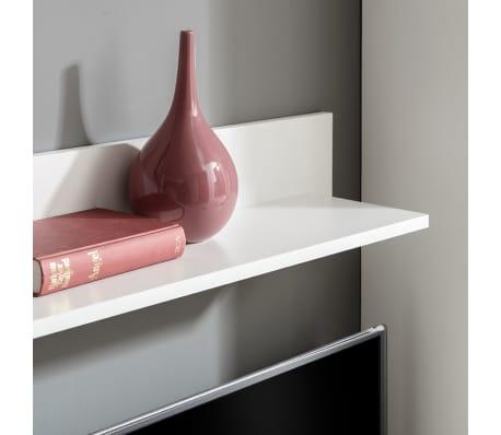 acheter vidaxl meuble tv mural avec clairage led 5 pi ces blanc pas cher. Black Bedroom Furniture Sets. Home Design Ideas