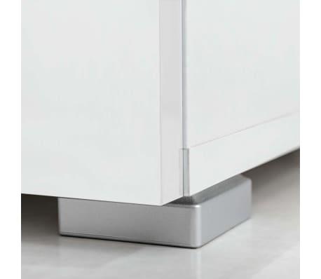 vidaxl meuble tv mural avec clairage led 5 pi ces blanc. Black Bedroom Furniture Sets. Home Design Ideas
