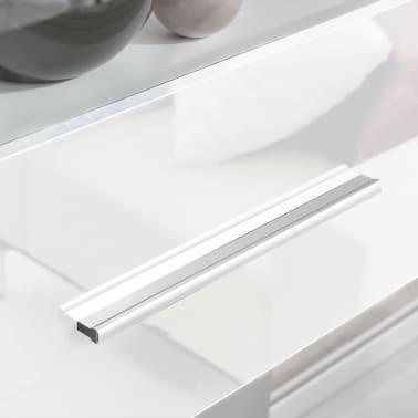 vidaXL TV-möbel med vitrinskåp och LED 5 delar vit[5/9]