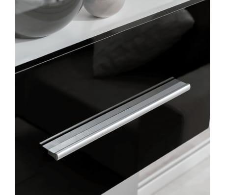 vidaXL Sieninė televizoriaus spintelė su LED apšvietimu, 5d., juoda[5/9]